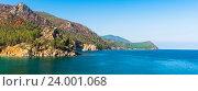 Купить «Панорама озера Байкал», фото № 24001068, снято 6 августа 2016 г. (c) Андрей Валерьевич Иванов / Фотобанк Лори