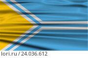 Купить «Flag of Tuva Republic, Russia with old texture.», фото № 24036612, снято 19 января 2019 г. (c) easy Fotostock / Фотобанк Лори