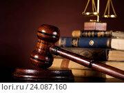 Купить «Law and justice concept, wooden gavel», фото № 24087160, снято 23 марта 2013 г. (c) easy Fotostock / Фотобанк Лори