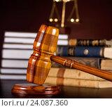 Купить «Gavel,Law theme, mallet of judge», фото № 24087360, снято 23 марта 2013 г. (c) easy Fotostock / Фотобанк Лори