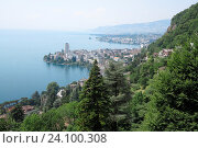 Купить «Switzerland, Vaud canton, Montreux on the lake Leman.», фото № 24100308, снято 6 июля 2015 г. (c) age Fotostock / Фотобанк Лори