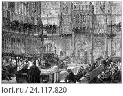 """Купить «William Connor Magee (1821 â. """" 1891), the Bishop of Peterborough. addressing the House of Lords on the question of the disestablishment of the Irish Church...», фото № 24117820, снято 4 октября 2016 г. (c) age Fotostock / Фотобанк Лори"""