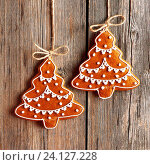 Купить «Christmas homemade gingerbread cookies», фото № 24127228, снято 25 сентября 2014 г. (c) easy Fotostock / Фотобанк Лори