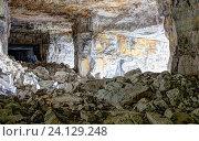 Купить «Каменоломня для добычи известняка в селе Ширяево. Самарская область.», фото № 24129248, снято 23 июля 2018 г. (c) Акиньшин Владимир / Фотобанк Лори