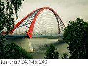 Бугринский мост, Новосибирск. Стоковое фото, фотограф Сотникова Кристина / Фотобанк Лори