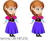 Купить «Принцесса Анна рисунок персонажа», иллюстрация № 24147212 (c) Jane Miau / Фотобанк Лори