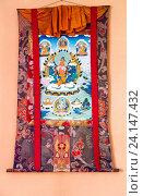 Купить «Буддийская Танка в монастыре в Гангтоке, штат Сикким, Индия», фото № 24147432, снято 27 декабря 2011 г. (c) Олег Иванов / Фотобанк Лори