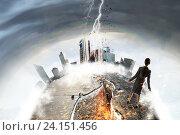 Купить «Overcoming crisis break . Mixed media», фото № 24151456, снято 16 сентября 2012 г. (c) Sergey Nivens / Фотобанк Лори