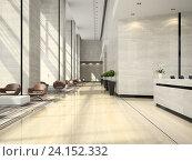 Купить «Интерьер отеля. 3D Иллюстрация», иллюстрация № 24152332 (c) Hemul / Фотобанк Лори