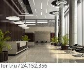 Купить «Интерьер отеля. 3D Иллюстрация», иллюстрация № 24152356 (c) Hemul / Фотобанк Лори