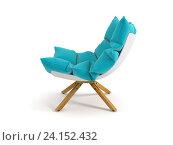 Купить «Кресло, изолировано на белом фоне. 3D-рендеринг», иллюстрация № 24152432 (c) Hemul / Фотобанк Лори