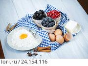 Ингредиенты для ягодного пирога. Стоковое фото, фотограф Pavel Ivanov / Фотобанк Лори