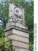 Купить «Севастополь. Архитектурный фрагмент на колонне.», фото № 24164936, снято 7 августа 2016 г. (c) Дмитрий Лукин / Фотобанк Лори