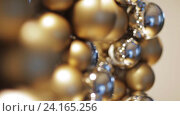 Купить «golden christmas decoration or garland of beads», видеоролик № 24165256, снято 3 ноября 2016 г. (c) Syda Productions / Фотобанк Лори