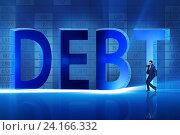 Купить «Businessman in debt business concept», фото № 24166332, снято 16 октября 2019 г. (c) Elnur / Фотобанк Лори