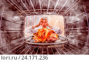 Купить «Funny chef perplexed and angry. Loser is destiny!», фото № 24171236, снято 29 июня 2014 г. (c) easy Fotostock / Фотобанк Лори