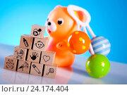 Купить «Toys, bright tone vivid composition», фото № 24174404, снято 9 апреля 2011 г. (c) easy Fotostock / Фотобанк Лори