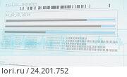 Купить «Information data of dna», фото № 24201752, снято 22 апреля 2019 г. (c) Wavebreak Media / Фотобанк Лори