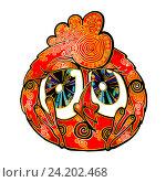 Купить «Петух красный - символ 2017 года», эксклюзивная иллюстрация № 24202468 (c) Александр Павлов / Фотобанк Лори