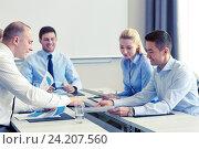 Купить «business people with papers meeting in office», фото № 24207560, снято 25 октября 2014 г. (c) Syda Productions / Фотобанк Лори