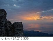 Купить «Рассвет на Демерджи», фото № 24216536, снято 13 октября 2014 г. (c) Анна Костенко / Фотобанк Лори