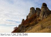 Купить «Живописные скалы Демерджи», фото № 24216544, снято 13 октября 2014 г. (c) Анна Костенко / Фотобанк Лори