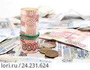 Купить «Много российских денег», фото № 24231624, снято 11 ноября 2016 г. (c) Наталья Осипова / Фотобанк Лори
