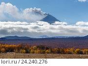 Ключевской вулкан или Ключевская сопка. Стоковое фото, фотограф А. А. Пирагис / Фотобанк Лори