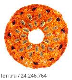 Купить «Сладкая фруктовая пастила круглой формы на белом фоне», фото № 24246764, снято 20 ноября 2016 г. (c) V.Ivantsov / Фотобанк Лори