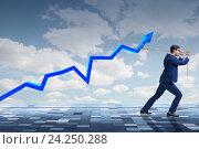 Купить «Businessman supporting increase in economy», фото № 24250288, снято 20 января 2020 г. (c) Elnur / Фотобанк Лори