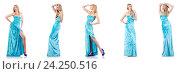 Купить «Fashion concept with tall model on white», фото № 24250516, снято 24 октября 2012 г. (c) Elnur / Фотобанк Лори