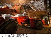 Купить «Добыча золотоносной руды под землей», фото № 24250712, снято 14 ноября 2016 г. (c) Mark Agnor / Фотобанк Лори