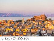Купить «Вид с воздуха на город Корфу», фото № 24255956, снято 7 июля 2011 г. (c) Ростислав Агеев / Фотобанк Лори