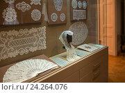 Купить «Экспозиция музея кружева. Вологда», эксклюзивное фото № 24264076, снято 21 августа 2016 г. (c) Pukhov K / Фотобанк Лори