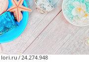 Фон с принадлежностями для спа. Стоковое фото, фотограф Светлана Сухорукова / Фотобанк Лори