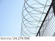 Типичный тюремный пейзаж. Исправительная система Россия УФСИН. Стоковое фото, фотограф Mikhail Erguine / Фотобанк Лори