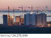 Купить «Санкт-Петербург. Новостройки», эксклюзивное фото № 24276644, снято 3 сентября 2016 г. (c) Литвяк Игорь / Фотобанк Лори