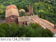 Купить «Castell de Escornalbou lost in mountains of Riudecanyes, Spain», фото № 24278080, снято 24 сентября 2016 г. (c) Яков Филимонов / Фотобанк Лори