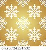 Купить «Золотой фон со снежинками», иллюстрация № 24281532 (c) Анастасия Улитко / Фотобанк Лори