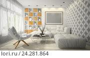 Купить «Современный интерьер.  3D иллюстрация», иллюстрация № 24281864 (c) Hemul / Фотобанк Лори