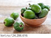 Купить «Тропический фрукт фейхоа», фото № 24286616, снято 18 ноября 2016 г. (c) Марина Сапрунова / Фотобанк Лори