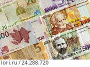 Купить «Банконты Азербайджана и Армении», фото № 24288720, снято 17 декабря 2018 г. (c) Евгений Ткачёв / Фотобанк Лори