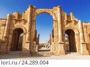 Купить «Южные ворота Древнего Римского города Гераса, современный Джераш, Иордания», фото № 24289004, снято 3 ноября 2016 г. (c) Наталья Волкова / Фотобанк Лори