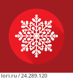 Купить «Снежинка на красном фоне», иллюстрация № 24289120 (c) Анастасия Улитко / Фотобанк Лори