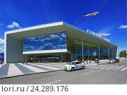 Купить «Аэропорт Стригино. Здание нового централизованного пассажирского терминала в Нижнем Новгороде», фото № 24289176, снято 18 марта 2019 г. (c) Igor Lijashkov / Фотобанк Лори