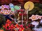 Glass mug and Christmas multicolored cookies on form stars., фото № 24300024, снято 26 ноября 2016 г. (c) Gennadiy Poznyakov / Фотобанк Лори
