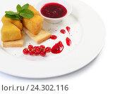 Сыр в сухарях со смородиновым вареньем. Стоковое фото, фотограф Воронина Светлана / Фотобанк Лори