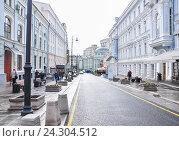 Купить «Улица Большая Дмитровка в Москве», фото № 24304512, снято 30 сентября 2014 г. (c) Алёшина Оксана / Фотобанк Лори