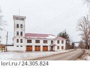 Купить «Пожарная башня», фото № 24305824, снято 18 ноября 2016 г. (c) Дмитрий Тищенко / Фотобанк Лори