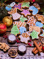 Christmas cookies and ginger root on wooden table., фото № 24305940, снято 30 ноября 2016 г. (c) Gennadiy Poznyakov / Фотобанк Лори